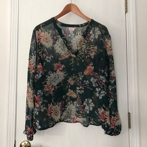 Sheer green blouse by A New Day